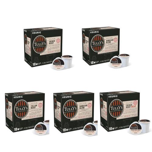 【送料無料】タリーズ コーヒー 選べる5箱セット(18個×5) キューリグ kカップ K-CUP Tully's Coffee