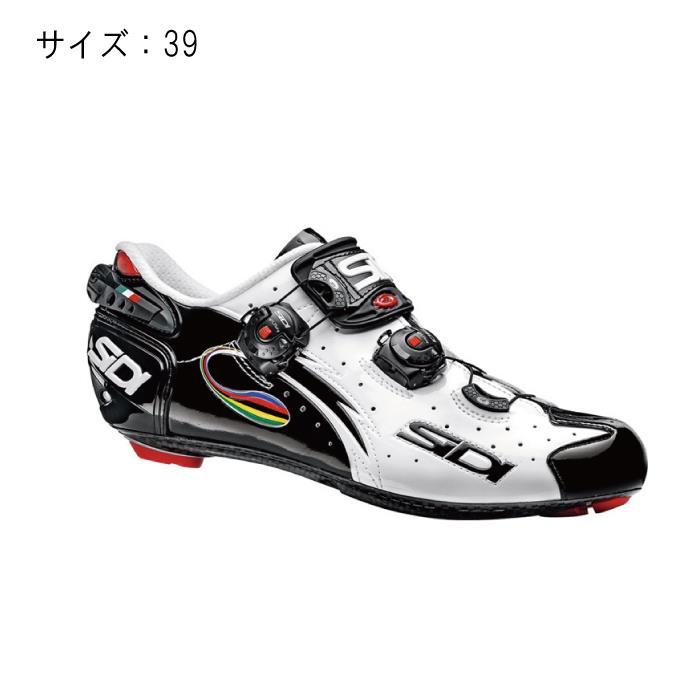 SIDI (シディ) 2016年モデルWIRE LCD ビンディングシューズ ホワイト/ブラック/イリーデ サイズ39 【自転車】