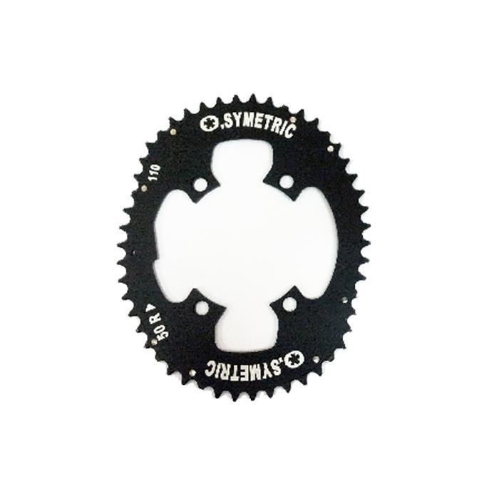 O.SYMETRIC (オー シンメトリック) チェーンリング シマノ 4アーム 50T ブラック アウターのみ【自転車】
