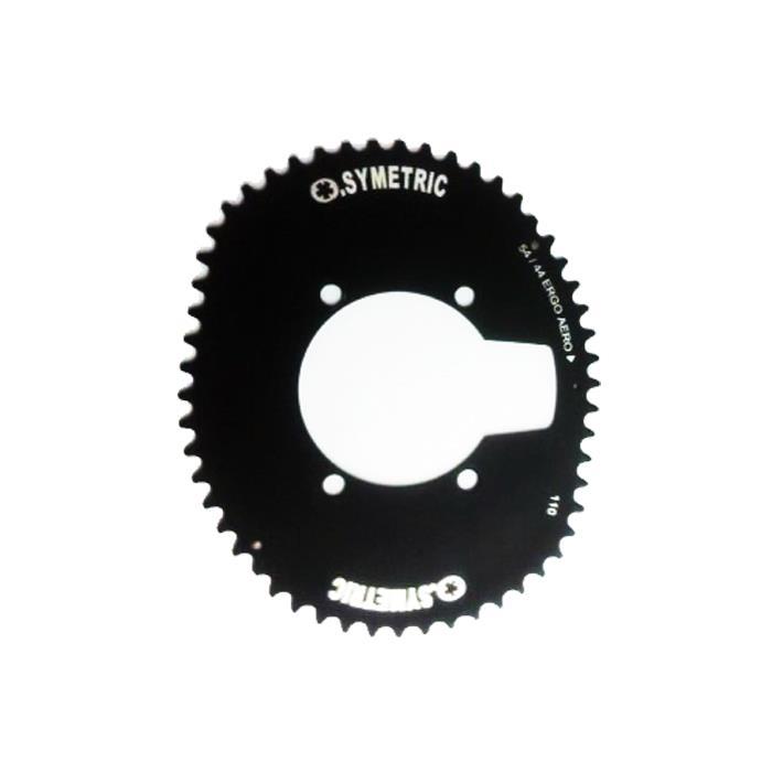 O.SYMETRIC (オー シンメトリック) チェーンリング シマノ 4アーム エアロタイプ 56T ブラック アウターのみ 【自転車】