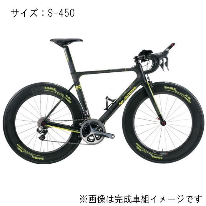 BOMA(ボーマ) RASOA CT-RA マットブラック/ショッキングイエロー サイズS-450 フレームセット 【ロードバイク】【自転車】
