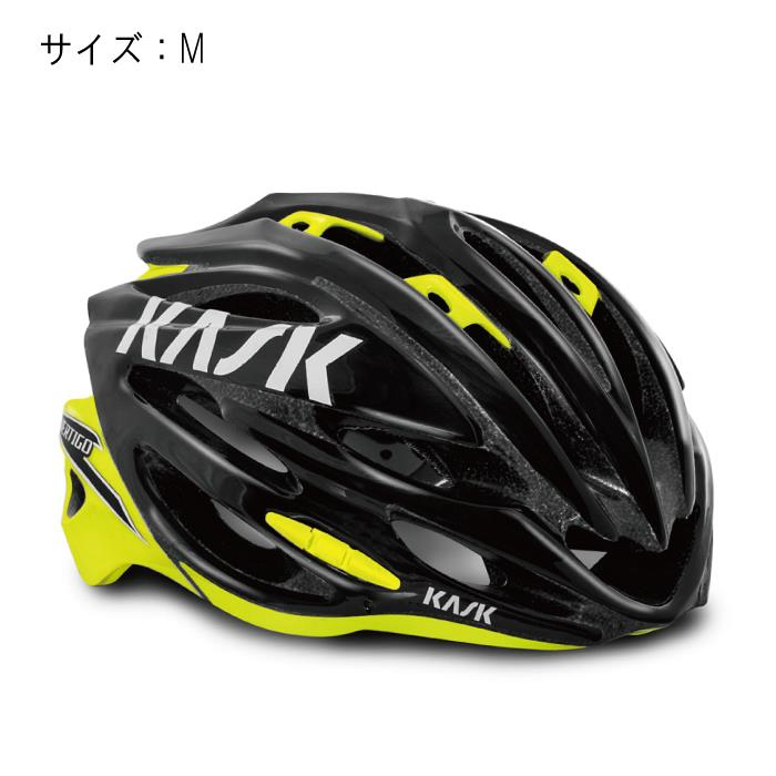 KASK(カスク) VERTIGO 2.0 ヴァーティゴ KASK(カスク) 2.0 ヘルメット ブラック/イエローフルオ サイズM サイズM ヘルメット【自転車】, ムレチョウ:f9a5f403 --- gallery-rugdoll.com