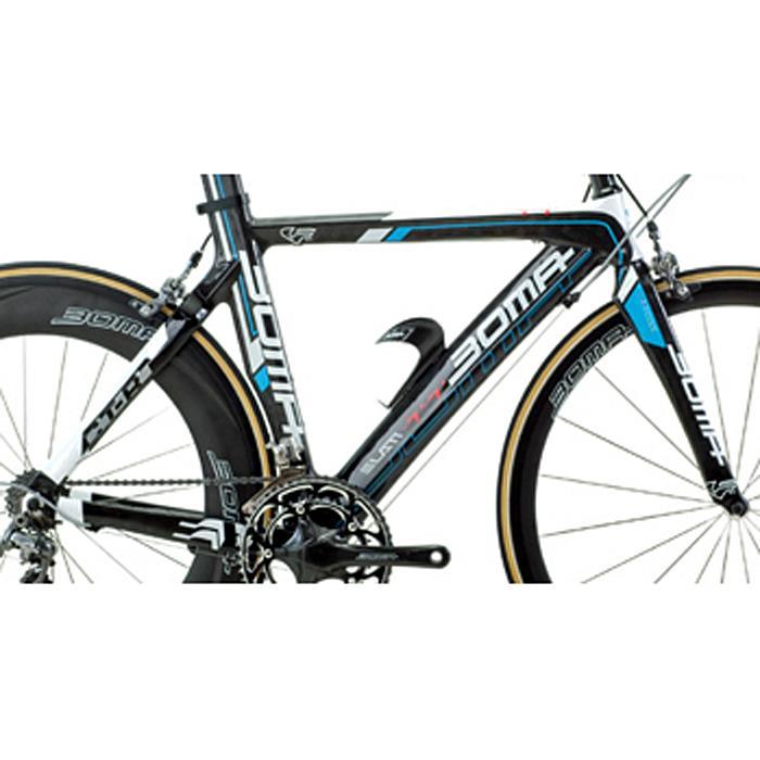 BOMA(ボーマ) ELAN-TT (エラン・ティーティー) Mカーボン×ホワイト×ブルー フレームセット 【ロードバイク】【自転車】【05P30Nov14】