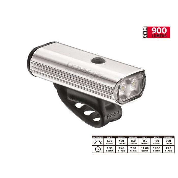 LEZYNE (レザイン) POWER DRIVE 900XL POLISH USB充電式 LED フロント用ライト 【自転車】【ロードバイク】