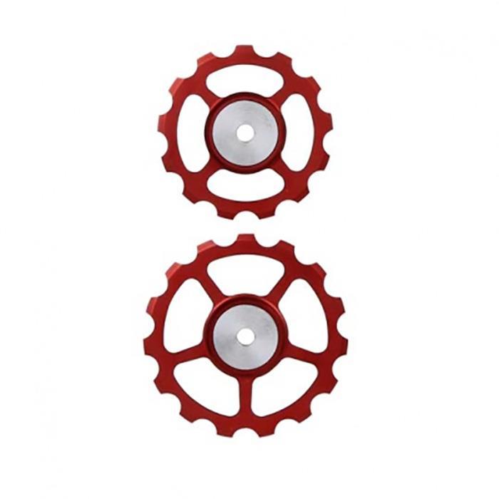 BERNER(バーナー)プーリー SET 13T-15T RED 【自転車】