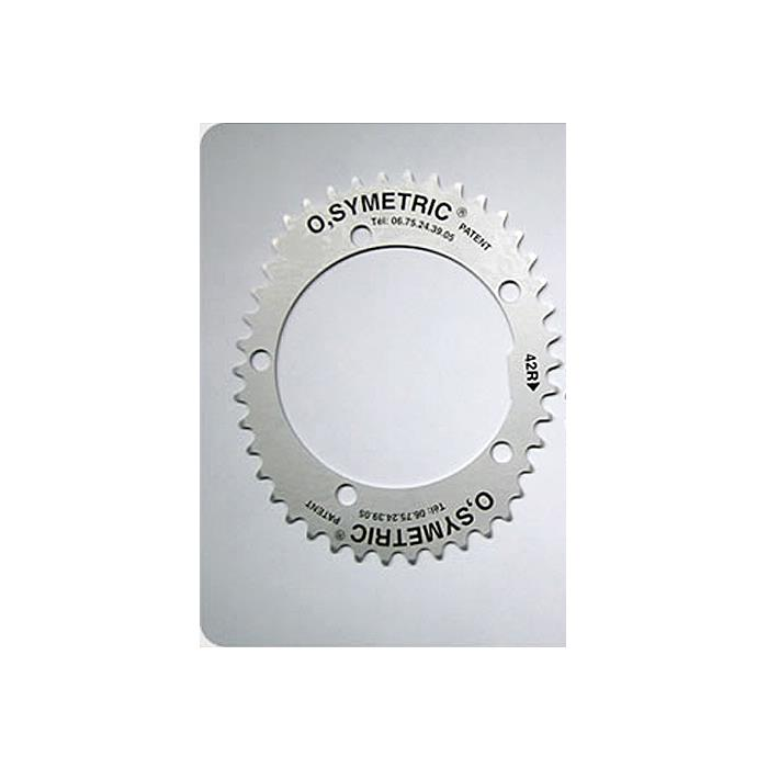 O.SYMETRIC(オーシンメトリック) チェーンリング スタンダード 42T PCD130 ブラック 【自転車】