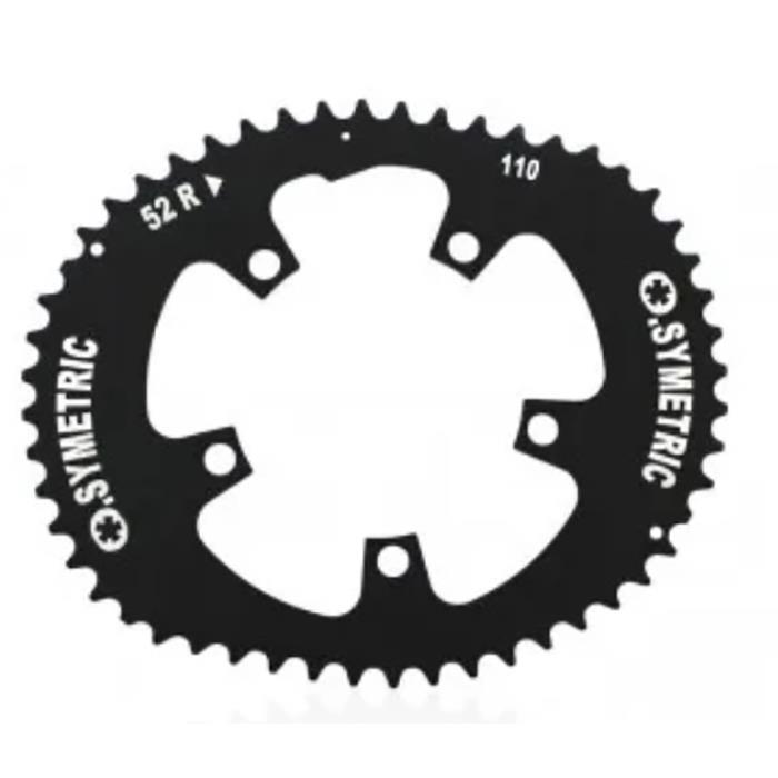 O.SYMETRIC(オーシンメトリック) チェーンリング コンパクト 52T PCD110 ブラック 【自転車】