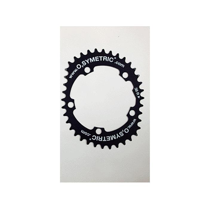 O.SYMETRIC(オーシンメトリック) チェーンリング コンパクト 38T PCD110 ブラック 【自転車】
