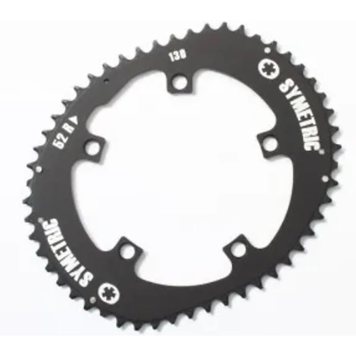 O.SYMETRIC(オーシンメトリック) チェーンリング スタンダード 52T PCD130 ブラック 【自転車】