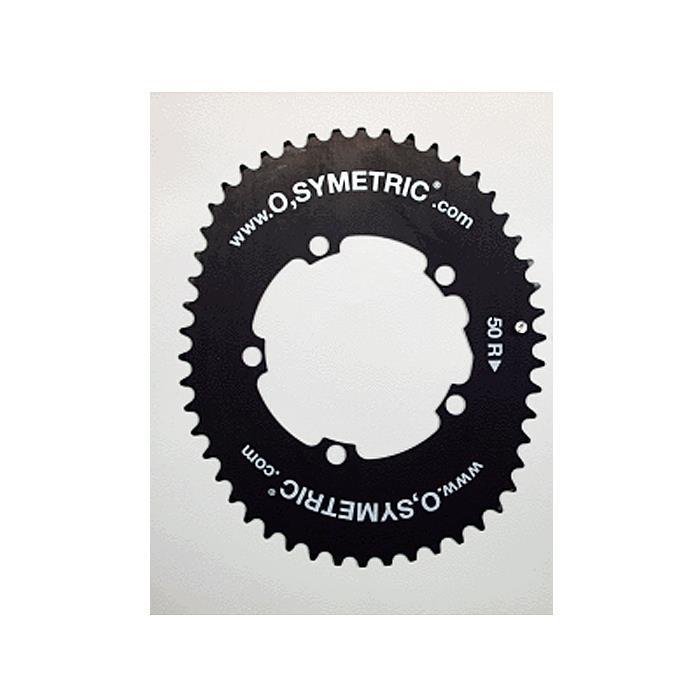 O.SYMETRIC(オーシンメトリック) チェーンリング コンパクト 50T PCD110 ブラック 【自転車】