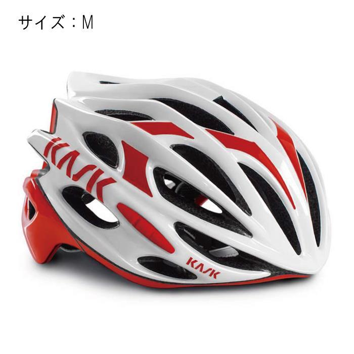 KASK(カスク) MOJITO モヒート ホワイト/レッド サイズM ヘルメット 【自転車】