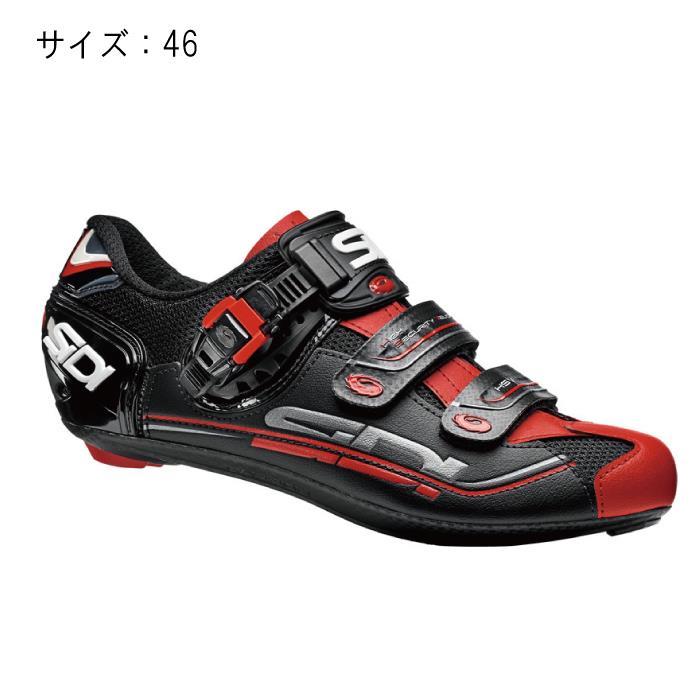 SIDI(シディ) GENIUS 7 ブラック/ブラック/レッド サイズ46 ビンディングシューズ