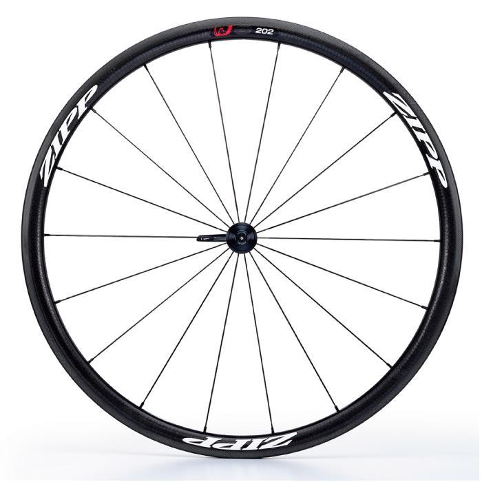 ZIPP(ジップ) 202 Firecrest ファイアクレスト カーボン クリンチャー Disc ホワイトロゴ フロント用ホイール 【自転車】
