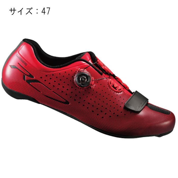 SHIMANO (シマノ) RC7 レッド ワイド サイズ47 (29.8cm) シューズ
