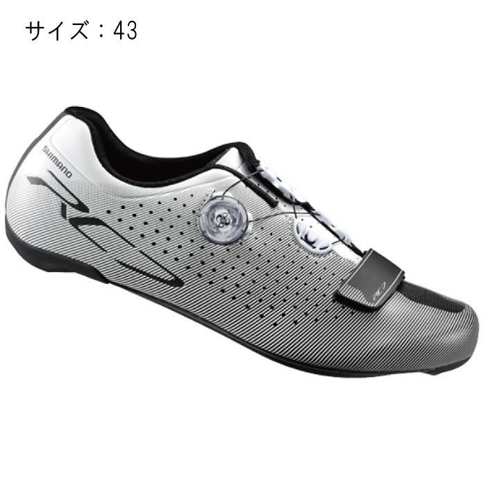 SHIMANO (シマノ) RC7 ホワイト ワイド サイズ43 (27.2cm) シューズ