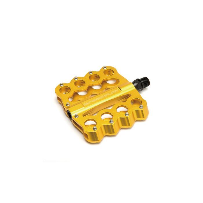 SPEEDPLAY(スピードプレイ) ブラスナックル ゴールド フラットペダル