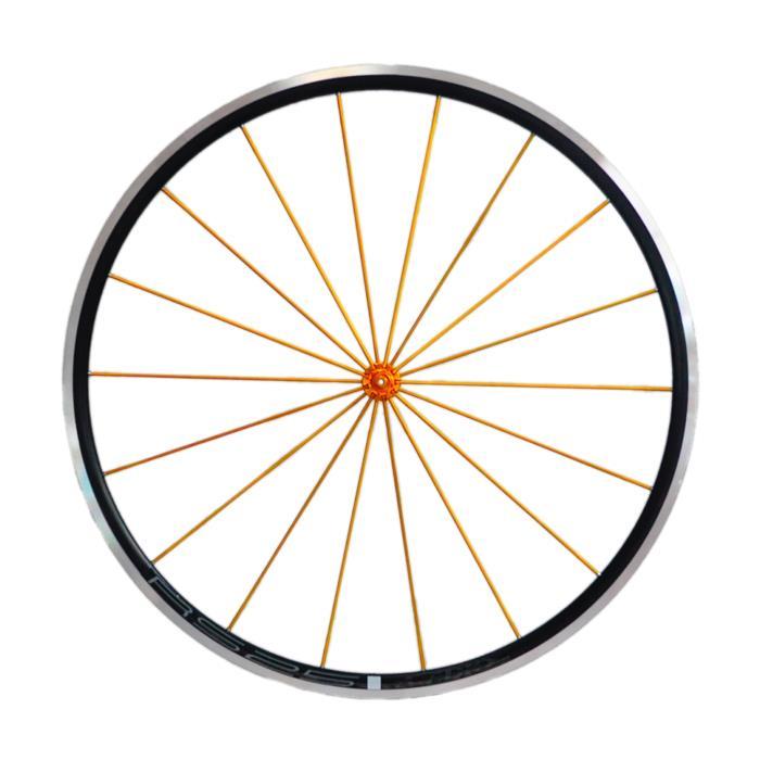 Avedio (エヴァディオ) RS25 ブラック スポーク ゴールド/ハブ ゴールド ホイールセット 【自転車】