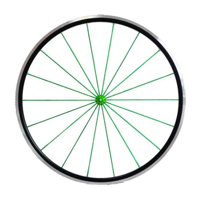 Avedio (エヴァディオ) RS25 ブラック スポーク グリーン/ハブ グリーン ホイールセット 【自転車】