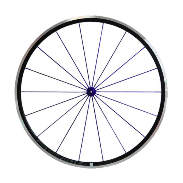 Avedio (エヴァディオ) RS25 ブラック スポーク ブルー/ハブ ブルー ホイールセット 【自転車】