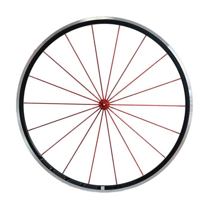 Avedio (エヴァディオ) RS25 ブラック スポーク レッド/ハブ レッド ホイールセット 【自転車】