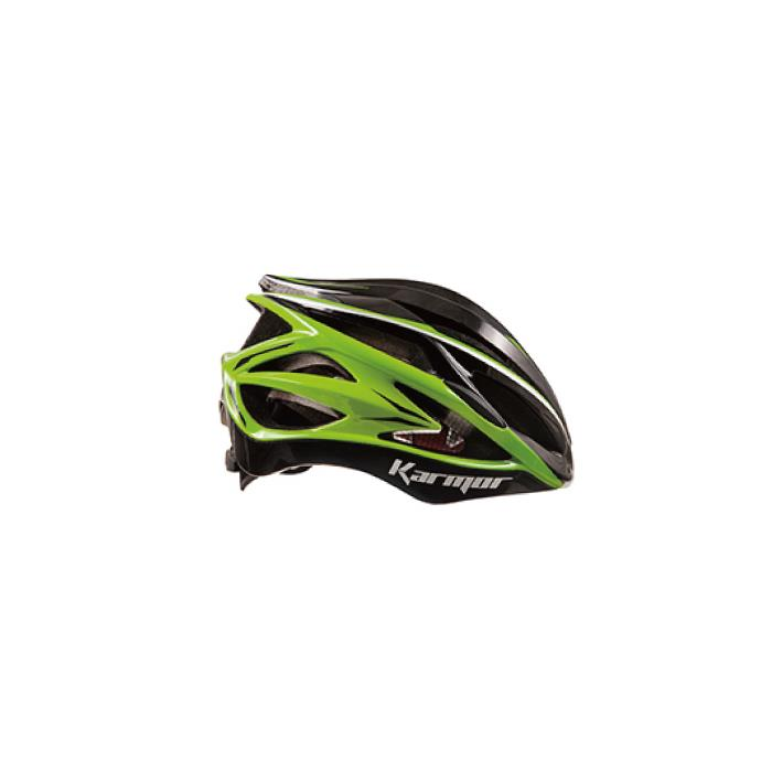 Karmor(カーマー)ASMA2 アスマ2 ブラック/ライトグリーン サイズL ヘルメット 【自転車】