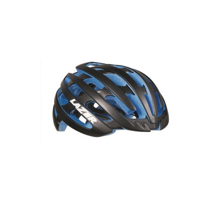 LAZER (レーザー) Z1 マットブラック/ブルーEPS サイズM(55-59cm) ヘルメット