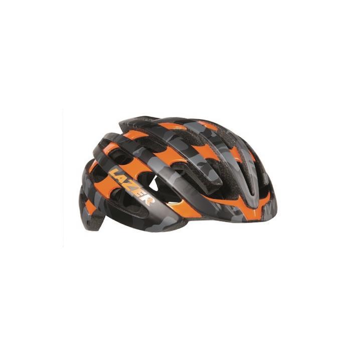 LAZER (レーザー) Z1 マットブラック カモ/フラッシュオレンジ サイズM(55-59cm) ヘルメット