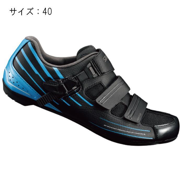 SHIMANO (シマノ) RP300MB ブラック/ブルー サイズ40 (25.2cm) シューズ