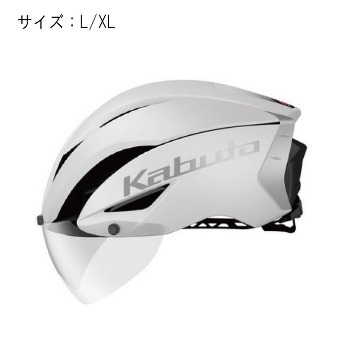 OGK(オージーケー) AERO-R1 エアロR1 マットホワイト サイズL/XL ヘルメット