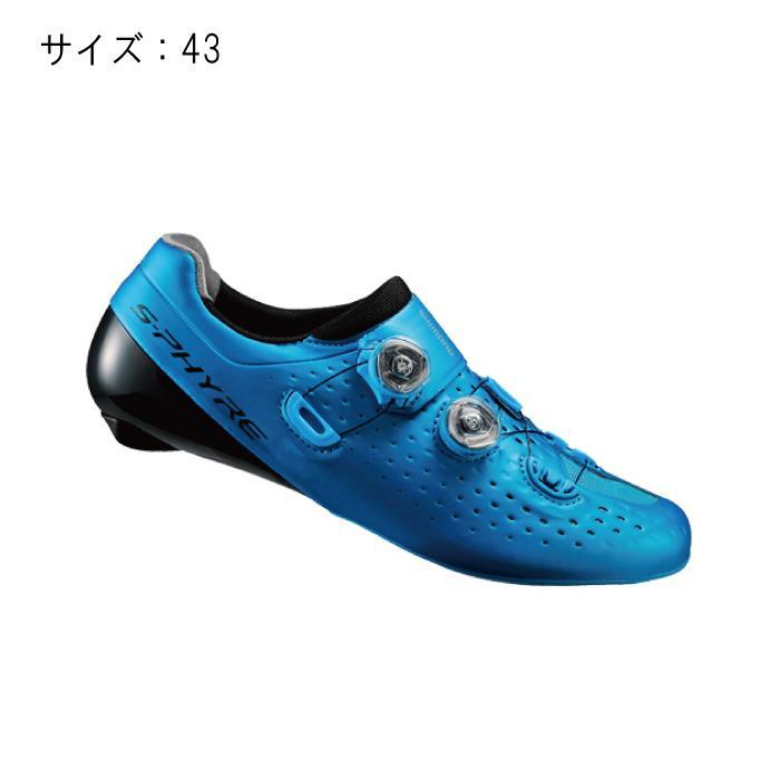 SHIMANO (シマノ) RC9 ブルー サイズ43 (27.2cm) シューズ