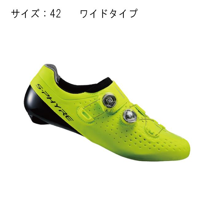 SHIMANO (シマノ) RC9 イエロー ワイド サイズ42 (26.5cm) シューズ