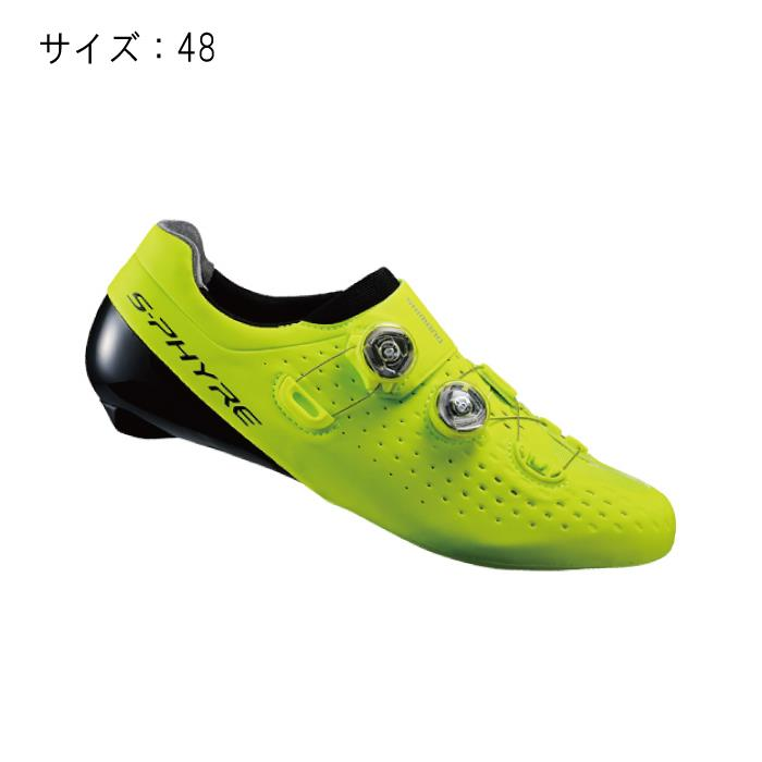 SHIMANO (シマノ) RC9 イエロー サイズ48 (30.5cm) シューズ
