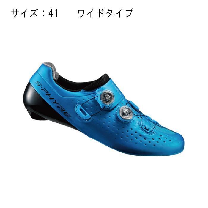 SHIMANO (シマノ) RC9 ブルー ワイド サイズ41 (25.8cm) シューズ