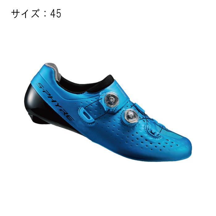 SHIMANO (シマノ) RC9 ブルー サイズ45 (28.5cm) シューズ