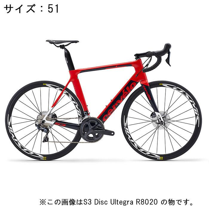 Cervelo (サーベロ)S3 Disc ULTEGRA Di2 R8070 11S レッド/ネイビー サイズ51完成車【自転車】