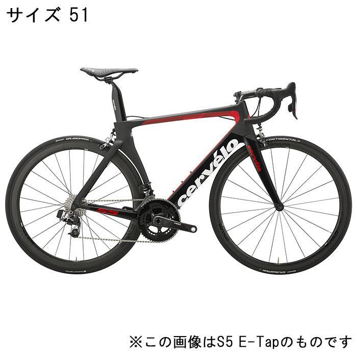 Cervelo (サーベロ)S5 ULTEGRA R8000 11S ブラック/レッド サイズ51 完成車【自転車】