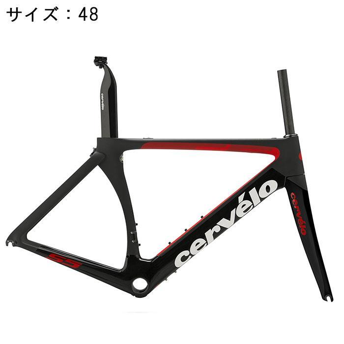 Cervelo (サーベロ)S5 ブラック/レッド サイズ48 フレームセット【自転車】