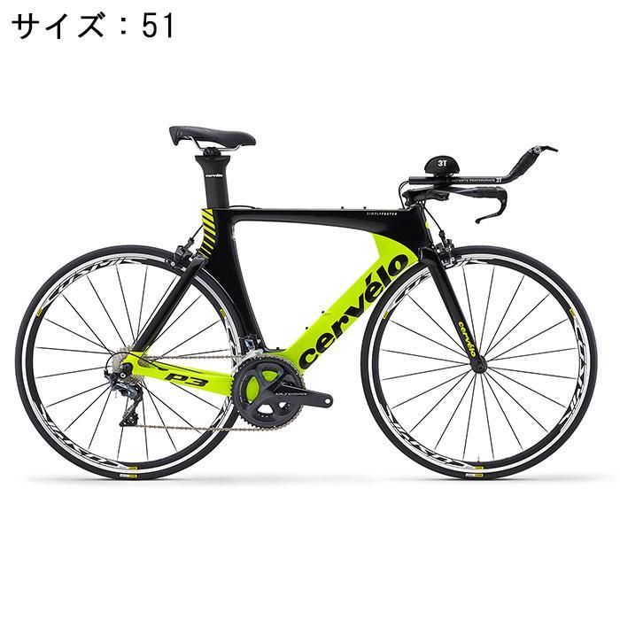 Cervelo (サーベロ)P3 ULTEGRA R8000 11S ブラック/フルオロイエロー サイズ51 完成車【自転車】