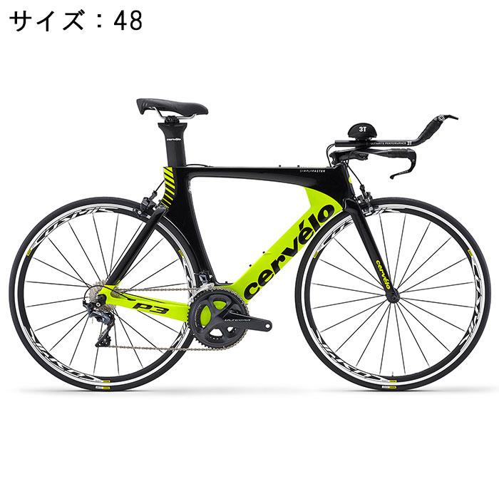 Cervelo (サーベロ)P3 ULTEGRA R8060 Di2 11S ブラック/フルオロイエロー サイズ48 完成車【自転車】