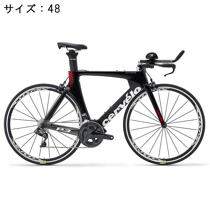 Cervelo (サーベロ)P3 ULTEGRA R8060 Di2 11S ブラック/レッド サイズ48 完成車【自転車】