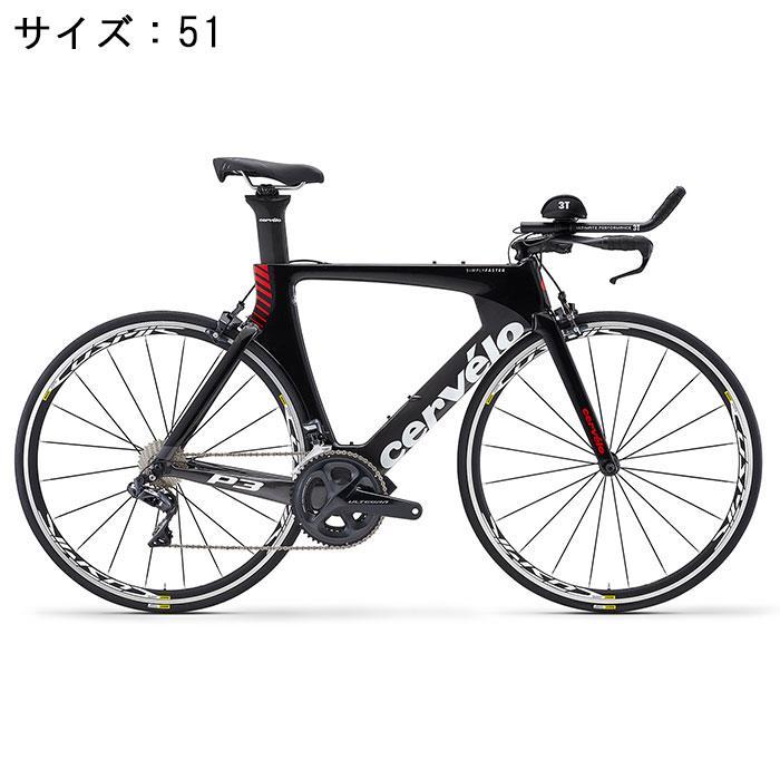 Cervelo (サーベロ)P3 ULTEGRA R8060 Di2 11S ブラック/レッド サイズ51 完成車【自転車】
