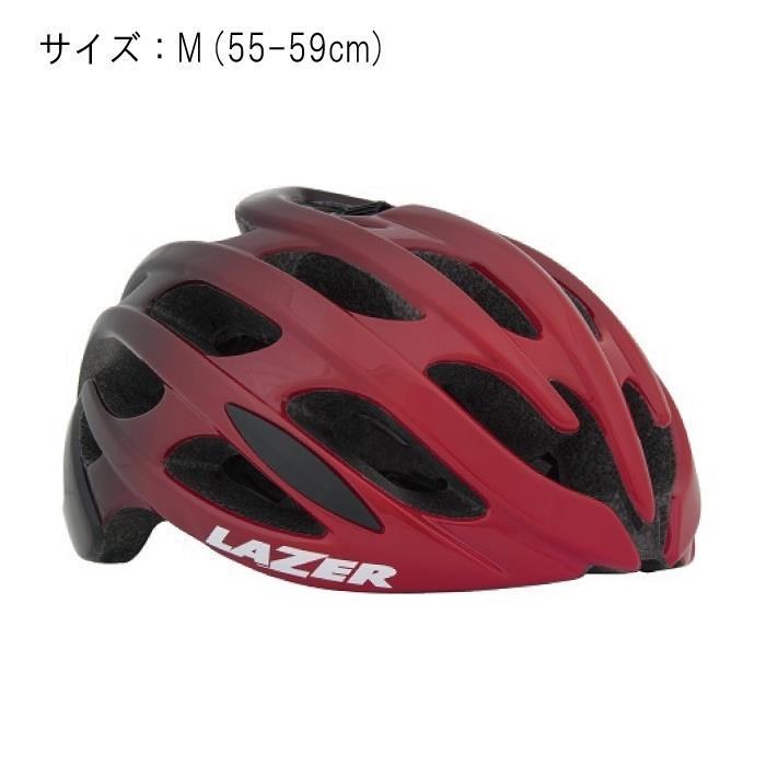LAZER (レーザー) Blade AF ブレイドアジアンフィット レッド/ブラック サイズM (55-59cm) ヘルメット