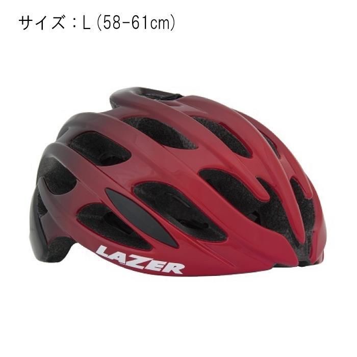 LAZER (レーザー) Blade AF ブレイドアジアンフィット レッド/ブラック サイズL (58-61cm) ヘルメット