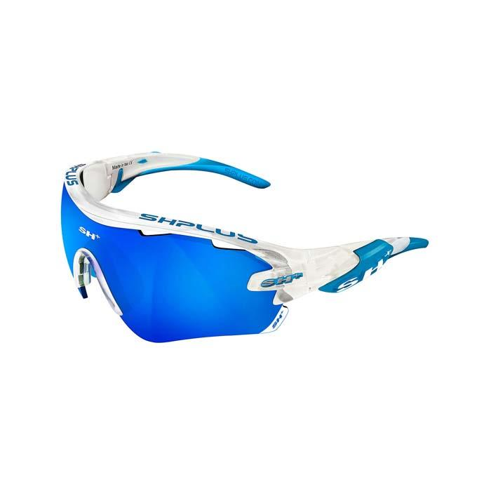 SH+(エスエイチプラス)RG5100 クリスタルホワイト/ブルー (レンズカラー ブルー) アイウェア