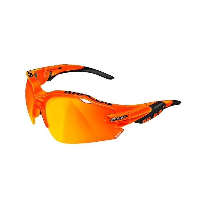SH+(エスエイチプラス)RG5000 オレンジフルオ/ブラック (レンズカラー レッド) アイウェア