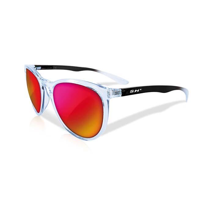 SH+(エスエイチプラス)RG3050 クリスタル/ブラック (レンズカラー レッド) アイウェア