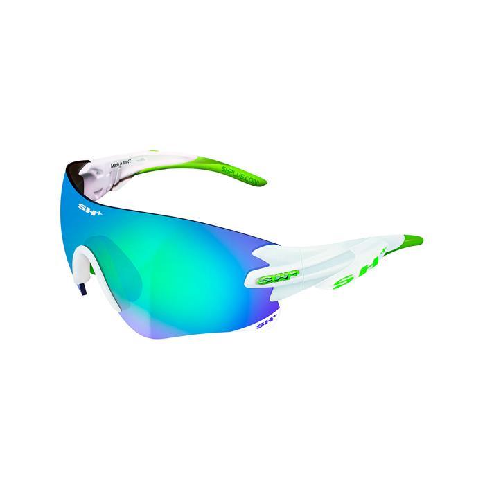 SH+(エスエイチプラス)RG5200 ホワイト/グリーン (レンズカラー グラファイト) アイウェア