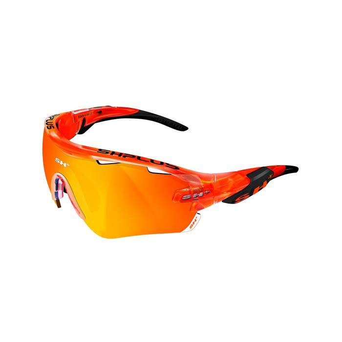 SH+(エスエイチプラス)RG5100 オレンジ/ブラック (レンズカラー レッド) アイウェア