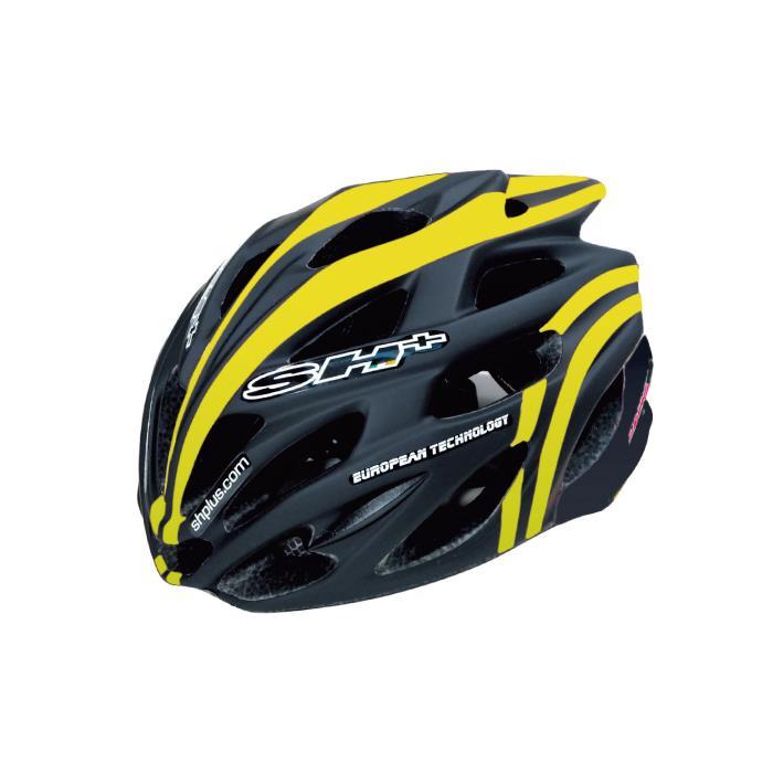 SH+(エスエイチプラス) SHABLI S-LINE シャブリエスライン ブラックマット/イエローフルオ UNIサイズ ヘルメット