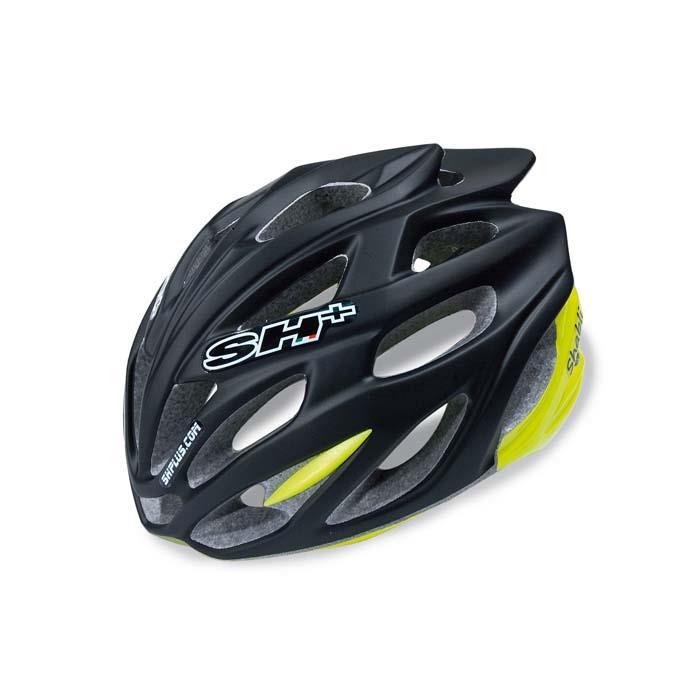 SH+(エスエイチプラス) SHABLI シャブリ ブラックマット/イエローフルオ UNIサイズ ヘルメット